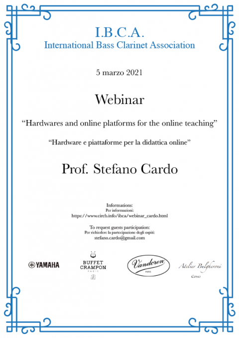 Hardwares and online platforms for the online teaching by Stefano Cardo