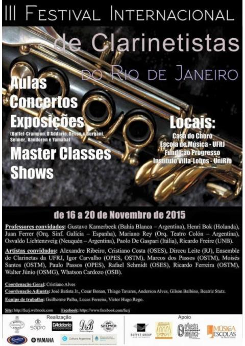 III International Festival of Clarinets of Rio de Janeiro
